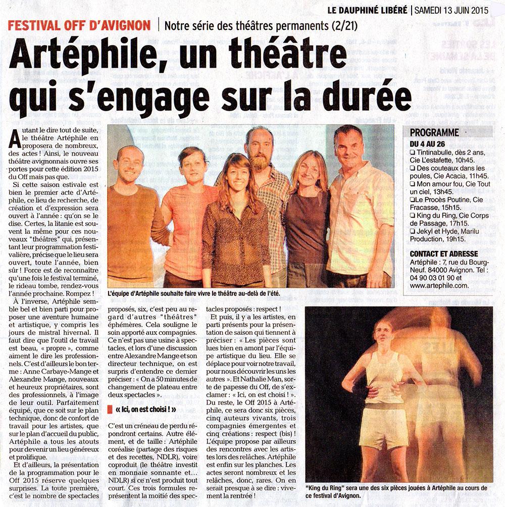 article du 13 juin 2015, Vaucluse Matin, ouverture d'une nouvelle structure culturelle