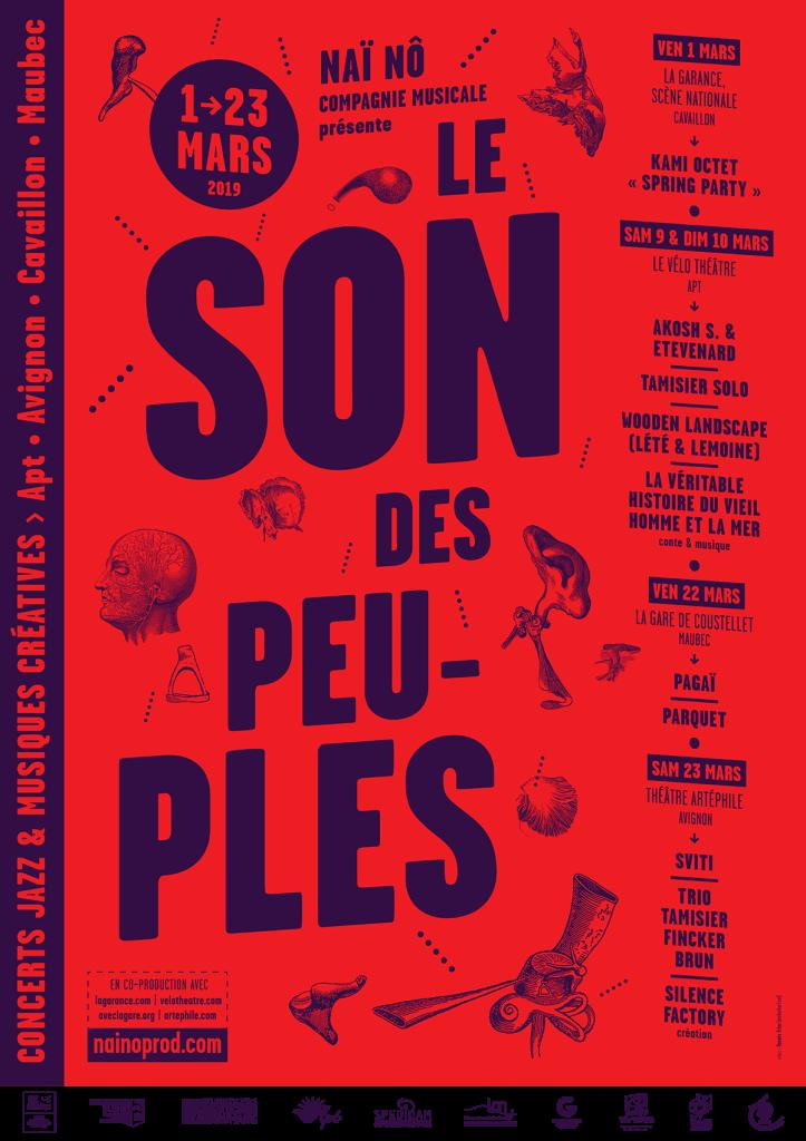 Affiche Le Son Des Peuples - Format web et fb